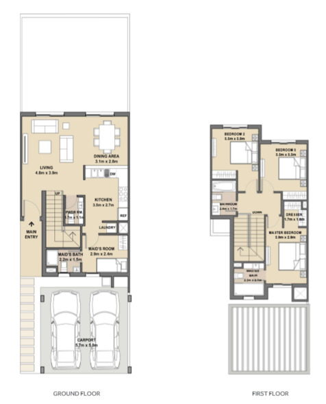 3 Bed Townhouse 1881 Sqft In Arabella 3 At Mudon Buyproperty Ae